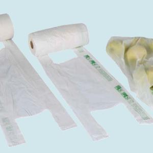 "T-SHIRT BAGS ON ROLL 22+12x50 12MY BIO-ECO ""40% rinnovabile"""