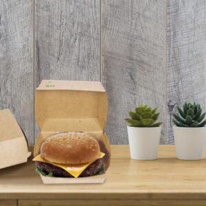 Packaging imballaggio contenitori alimentari fast food contenitori carta box panino ecologico biologico riciclabile compostabile Roma Italia